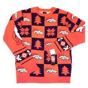 Denver Bronco Official NFL Christmas Sweater -NEW-